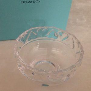 Tiffany & Co. Crystal Heart Bowl